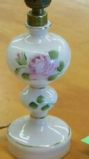 Vintage Light Pink Lamp-Hand Painted Rose-Made in Poland