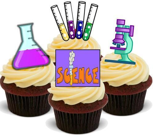 Science Mix A New Stand Up Premium Card Cake Toppers