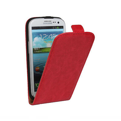 Crazy horse leather flip up and down Case Cover For  Samsung Galaxy S3 / S3 Neo