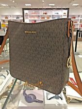 Michael Kors Jet Set Large Messenger Bag Crossbody Brown MK 2018 Fall