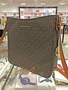 de54c3ef9 Image is loading MICHAEL-KORS-JET-SET-TRAVEL-MESSENGER-LARGE-CROSSBODY-