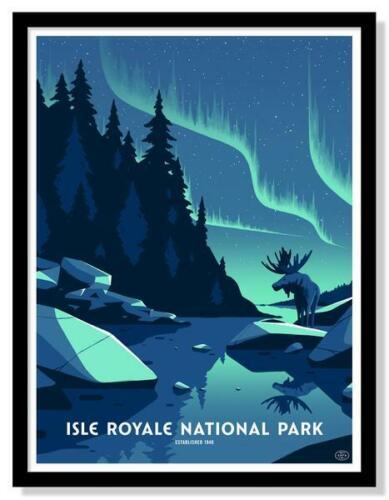 """ISLE ROYALE NATIONAL PARK 2/""""x3 /""""PhotoFridge Magnet"""