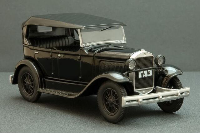 GAZ-A USSR Soviet Passenger Car Phaeton Black Color 1:43 Scale Diecast Model