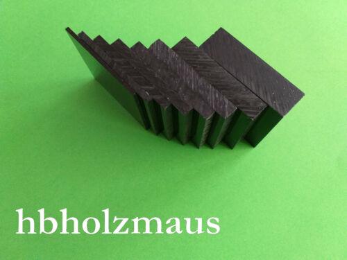 49,99€//m² 2 mm Acrylglas XT Schwarz Zuschnitt Größe wählbar