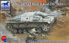 CB35116 1/35 BRONCO Stug III Ausf. C/D (2in1) NEW
