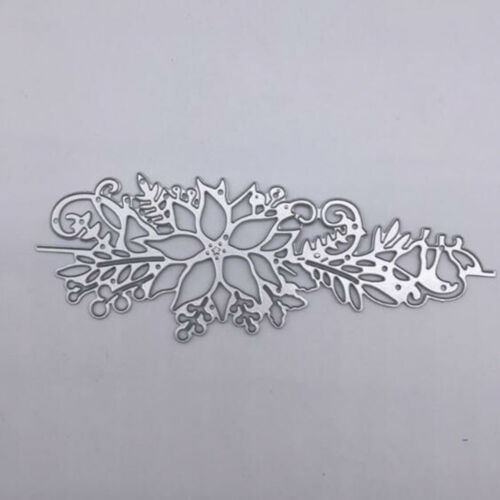 Cutting Dies Flower Xmas Christmas Poinsettia Greeting Card Craft Frame Metal