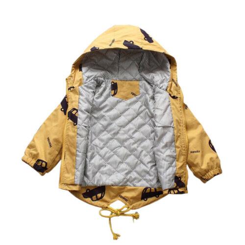 UK Autumn Toddler Kid Baby Boy/&Girl Cartoon Hooded Jacket Coat Outwear Clothes