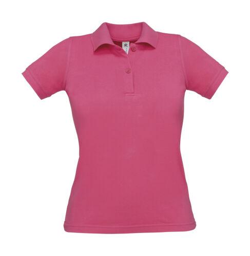 Damen Poloshirt Polo Shirt B/&C Polo Safran Pure Women T-Shirt Baumwolle Polohemd