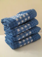Kitchen Towels Set Of 4 - 100% Cotton - Blue Color - Size 14 X 25
