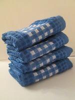 Kitchen Towels Set Of 4 - 100% Cotton - Blue Color - Size 14 X 25