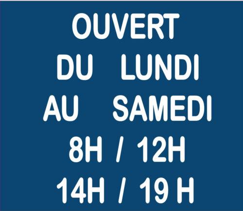 Plaque RESINE horaire ouverture magasin personnalisée 5 LIGNES Couleur 15X13cm