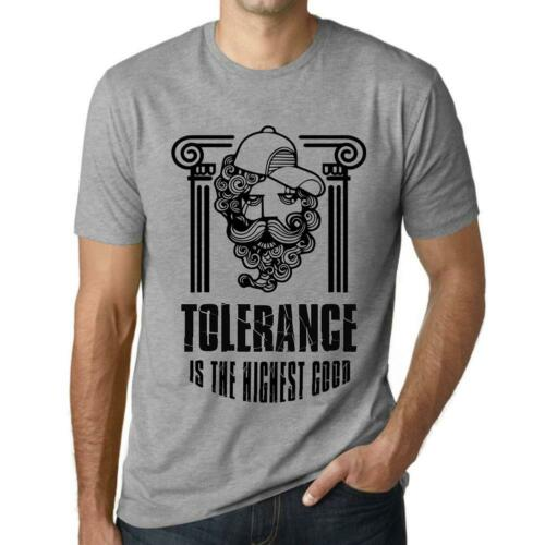 Grey Marl Ultrabasic Men/'s Graphic T-Shirt Funky Philosopher TOLERANCE