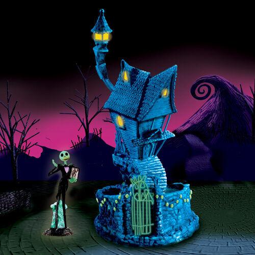Tim Burton Nightmare Before Christmas Hawthorn Village JACK SKELLINGTON'S HOUSE