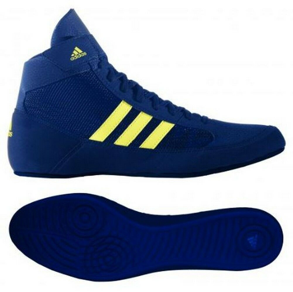 fa4fd35bee0f20 adidas HVC 2 Youth Kids Wrestling Shoes Aq3327 Black white gum BRAND 4 for  sale online