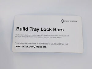 build tray lock bars for new matter mod t 3d printer new in