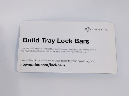 New in Original Packaging Build Tray Lock Bars for New Matter MOD-t 3D Printer