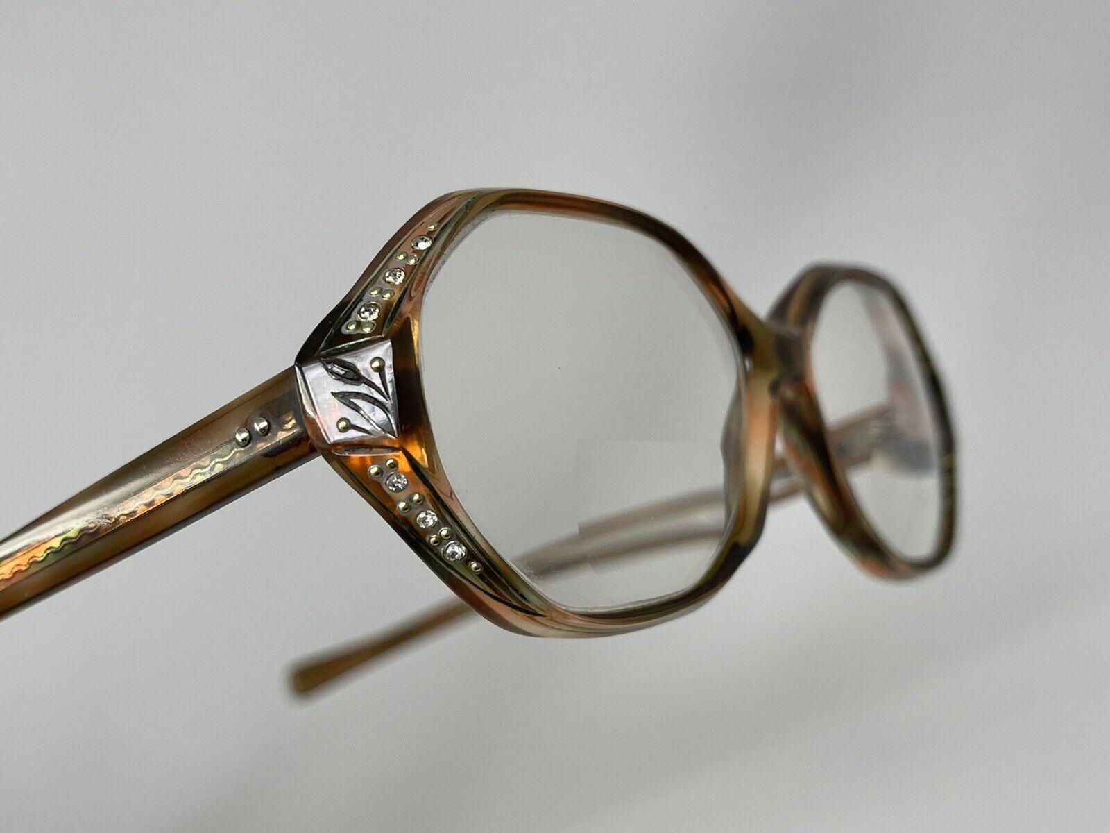 Vintage AMERICAN OPTICAL Eyeglasses Rhinestones Women's Red Dot