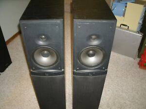Infinity Rs4 Tower Speakers Very Good Condition Missing Grille