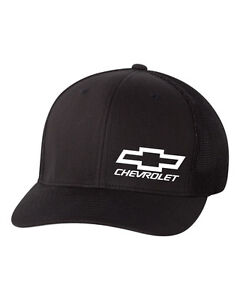 4a39ffc20 Details about CHEVY Chevrolet Trucker Cap FLEXFIT HAT ***FREE SHIPPING in  BOX***
