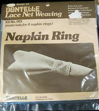DONTELLE LACE NET WEAVING KIT NO. 003 MATERIALS FOR 4 NAPKIN RINGS NEW IN PACK