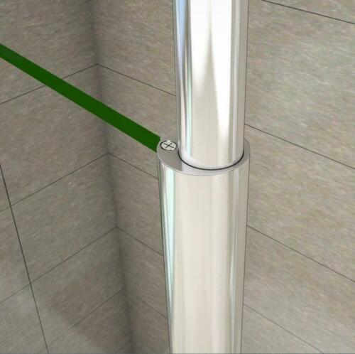 Dusche Duschwand Nano Glas Duschkabine Walk in Duschabtrennung mit Deckenhalter