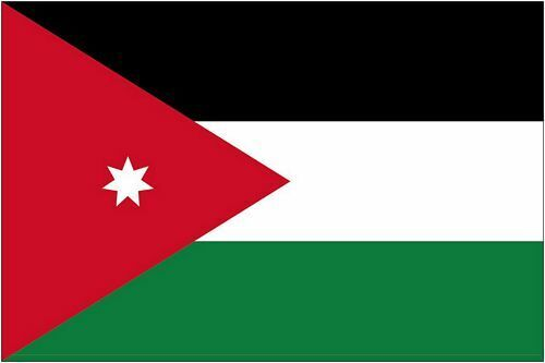 Autoaufkleber Sticker Fahne Jordanien Flagge Aufkleber