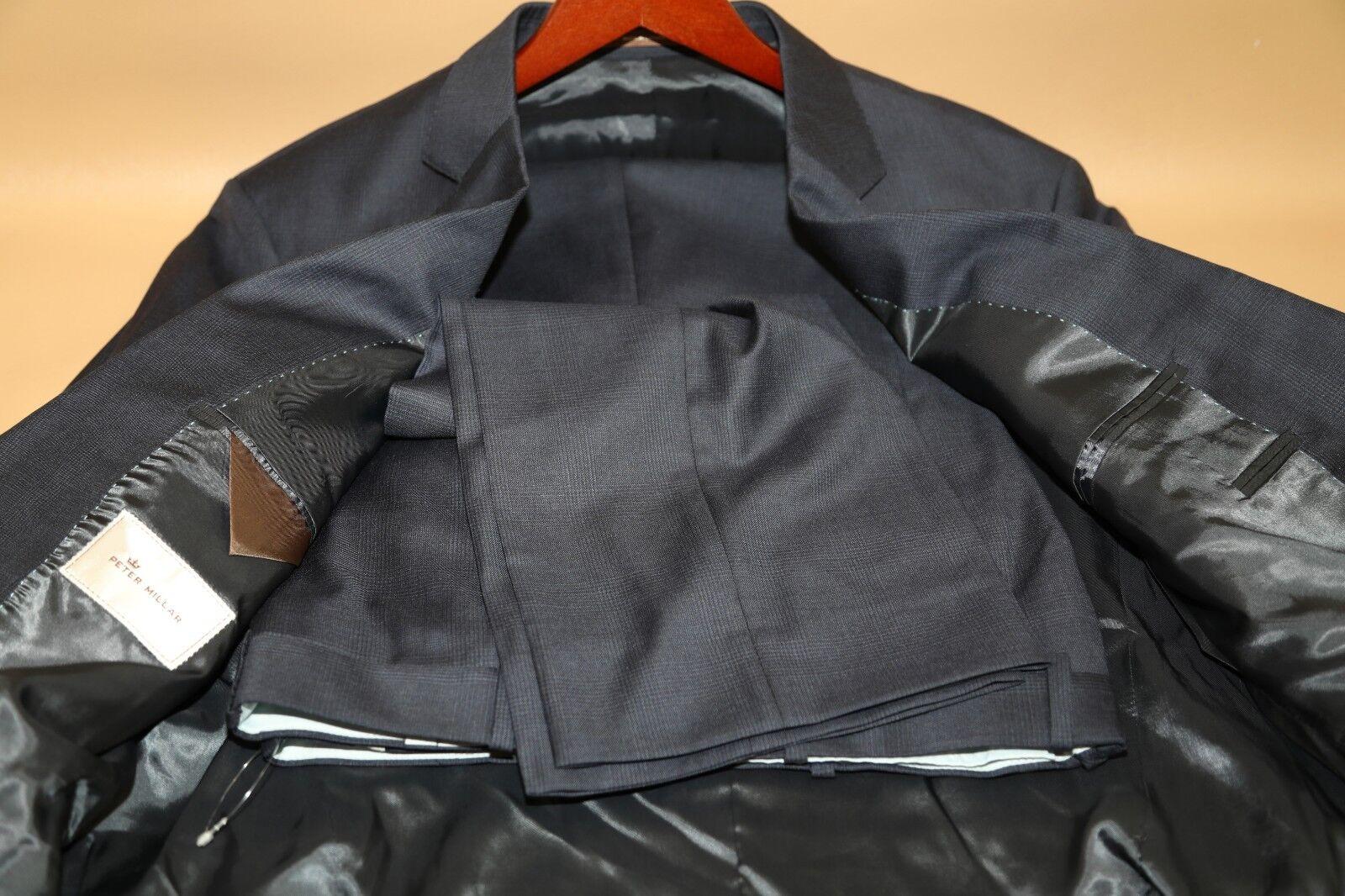 58  Peter Millar Blau  Two Button Suit Größe 44 R