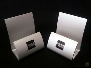 Pair-Aluminium-American-Express-Card-Leaflet-Holders-H-7cm-FREE-Delivery-UK