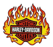 Harley Davidson Flammen Fenster Aufkleber 10x10cm Windshield Flame Window Decal