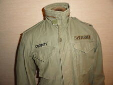 Men's Vintage 70's Vietnam War Era U.S Army Olive M-65 Combat Field Jacket Sz-S