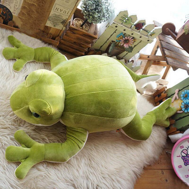 70cm Big Green Anime Frog Plush Soft Toy Animal Stuffed Doll Birthday Gifts