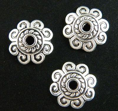 Tibetan Silver Nice Flower Bead Caps 150 10.5x3mm/200 8.5x2.5mm L26 L27