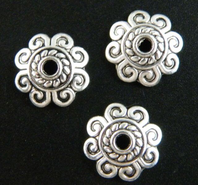 Tibetan Silver Nice Flower Bead Caps 150 10.5x3mm/200 8.5x2.5mm zn60338