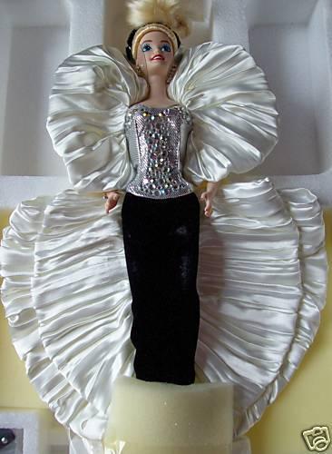 1992 Cristal Rhapsody Barbie de porcelana le Nrfb  Perfecto