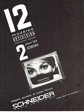 PUBLICITE ADVERTISING  1963   SCHNEIDER  téléviseur
