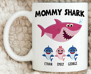 Personalized Mommy Shark Mug Mommy Shark Gifts Funny Mothers Day Gift