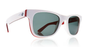 271799d96d2 NEW Electric Detroit Fuego White Red Grey Mens Round Sunglasses Msrp ...