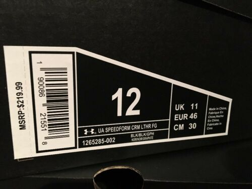 Under Armour Hommes Speedform CRM en cuir FG de football Crampons Taille 7 10 11 12 13