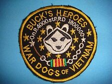 VIETNAM WAR PATCH BUCK'S HEROES 4000 WAR DOGS OF VN