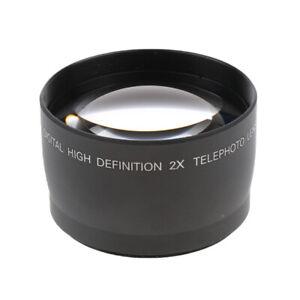 58mm 2x Teleobjektiv Telekonverter für Canon 1100D 1000D 600D 550D 500D 450D