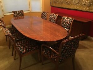 Details about MINT Henredon Dining Room Furniture Set Including 8 Chairs,  Buffet