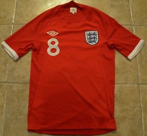 Image is loading Frank-Lampard-Signed-England-Number-8-Football-Shirt- 1764acbe4