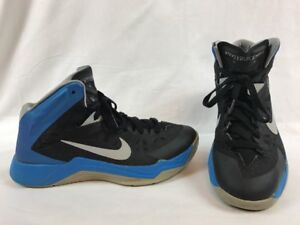 NIKE ZOOM HYPERQUICKNESS MENS Blue Black Gray SHOES 599519 003  SZ 8