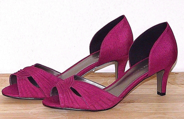 BNWT Jacques Vert Rose Foncé Pourpre Cour Chaussures Taille UK 5 EUero 38