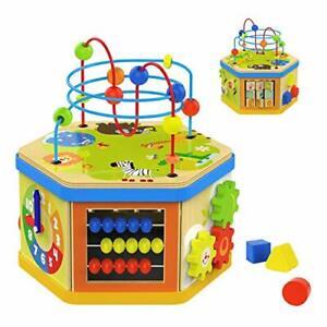 TOP-BRIGHT-Jouet-Cube-D-039-activite-1-an-en-Bois-Cube-Educatif-pour-Enfant-7-en