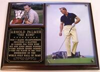 Arnold Palmer the King Legend Of Golf All-time Great Photo Plaque