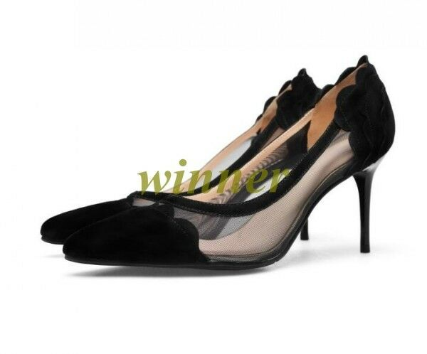 Sexy femmes Pointed Toe Mesh Breathable Stilettos High Heel Pump chaussures Party new