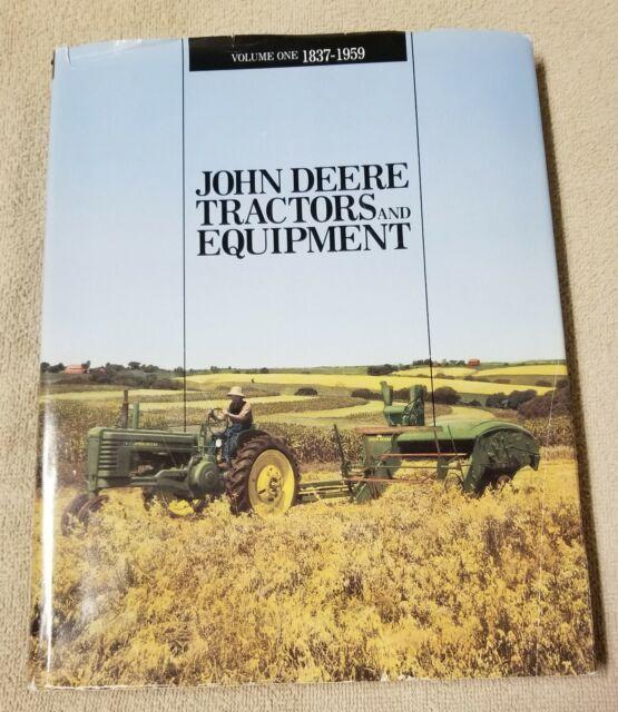 JOHN DEERE TRACTORS and EQUIPMENT Vol 1 1837-1959 Book 1988 Macmillan Jones HBDJ