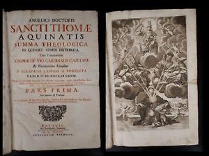 Tommaso d'Aquino: Summa Theologica in Quinque Tomos Distributa (5 vol) - 1698