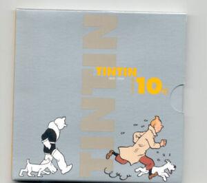BELGIQUE 10 € Euro 2004 TINTIN QP PROOF *Argent*